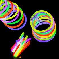 Etekcity 100 8 Party Supplies Light up Glow Sticks for