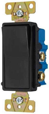 Pass & Seymour TM874BKCC6 Four-Way Decorator Switch 15-Amp