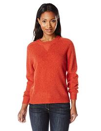 Pendleton Women's Patches Pullover Sweater, Red Ochre