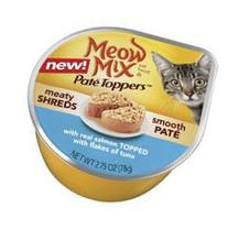 Meow Mix Pate Toppers - Real Salmon Topped with Flakes of