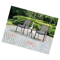 Oakmont Meadows 3-Piece Outdoor Patio Bistro Set, Seats 2