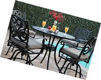 Outdoor Patio Furniture Perris Collection 5 Piece Aluminum