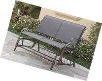 Outdoor Patio Swing Glider Loveseat Bench Chair Steel Frame