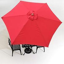 9' Patio Umbrella Replacement Canopy 6 Rib Outdoor Yard Deck