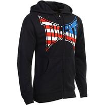 TapouT Patriot Zip Up Hoodie - Black - Small