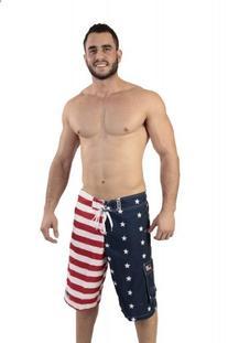 Patriotic American USA FLAG Board Shorts/Swim Trunks MEDIUM