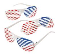 Fun Express Patriotic Shutter Shading Glasses