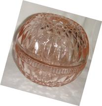 Mount Vernon pattern Candle Lamp in pink glass