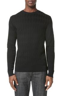 Men's A.p.c. Pavel Merino Blend Crewneck Pullover, Size Medium - Black