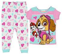 Paw Patrol Little Girls Toddler Skye Cotton Pajama Set