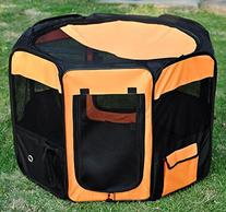 Pawhut 36 Deluxe Soft Sided Folding Pet Playpen / Crate -