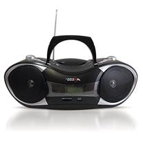 AXESS PB2707 Portable MP3/CD Boombox with AM/FM Stereo, USB