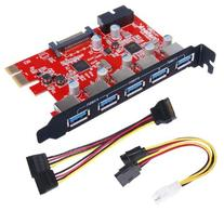 Inateck PCI-E to USB 3.0 5-Port PCI Express Card and 15-Pin
