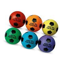 MAC-T PE07922E Sup-R-Safe Soccer Balls, Assorted Colors, Set