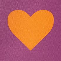 Jonathan Adler Peace/Love Cover - Purple/Orange