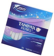 Tampax Pearl Plastic Tampons, Light Absorbency, Unscented,