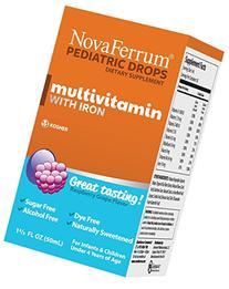 NovaFerrum Pediatric Drops Multivitamin with Iron, Raspberry