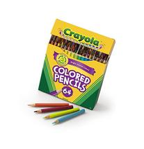 Crayola Colored Pencils, 64 Count, Vibrant Colors, Pre-