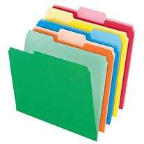 Pendaflex 152 1/3 ASST Colored File Folders, 1/3 Cut Top Tab