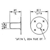 Steel Speaker Pole Mount for 1 3/8'' Poles