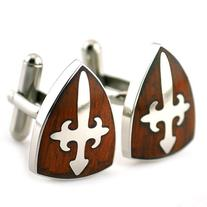 PenSee Rare Stainless Steel & Red Wood Cross Peltate