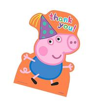 Amscan Peppa Pig Birthday Party Postcard Thank You Cards,