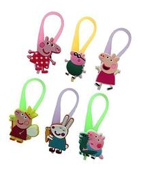 Peppa Pig Luminescent Colorful Silicone Snap Lock Zipper