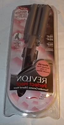 Revlon Perfect Heat Tourmaline Ceramic 3 Barrel Waver