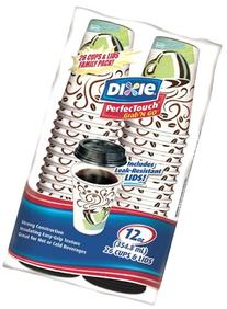 Dixie PerfecTouch Grab 'N Go Paper Cups & Lids, 12 oz  Pack