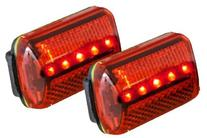 Personal Red Flashing Safety Light with Belt Clip  - up to