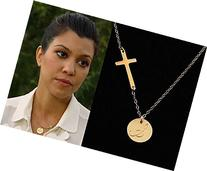 Personalized Cross Necklace . 14k Gold Fill . Sideways Off-