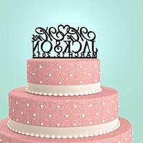 Personalized Custom Mr & Mrs Wedding Cake Topper with Your