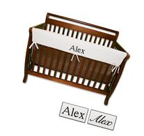 Personalized Embroidered Name Trend Lab Crib Wrap Rail Guard