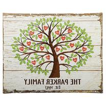 Personal Creations Personalized Family Tree of Hearts Canvas