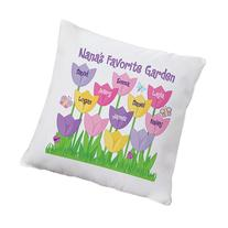 Personal Creations Personalized Tulip Garden Name Pillow