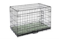 Confidence Pet 2 Door Dog Cage Crate With Bed - Small