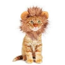 Pet Costume Lion Mane Wig for Dog Cat Halloween Dress up