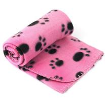 Mosunx Pet Dog Cat Blanket Lovely Paw Print Bed Soft Warm