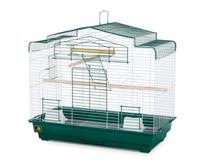 Prevue Pet Products Barn Style Bird Cage, Green and White