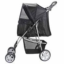 Oxgord Pet Stroller Cat/Dog Easy Walk Folding Travel Carrier
