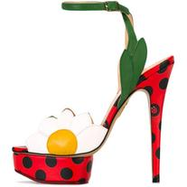 Charlotte Olympia - Petal sandals - women - Leather - 35