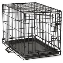Proselect Easy Dog Crates for Dogs and Pets - Black; Extra