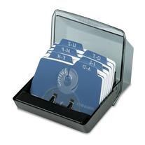 Rolodex Petite Covered Tray Card File with 125 2 1/4 x 4