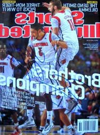 Peyton Siva & Luke Hancock autographed Sports Illustrated