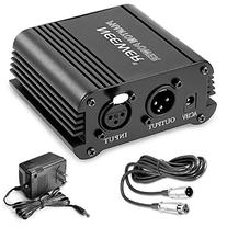 Neewer 1-Channel 48V Phantom Power Supply with Adapter,