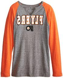NHL Philadelphia Flyers Shout Out L/S Triblend Tee, Medium,