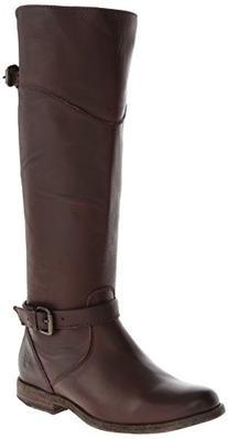 FRYE Women's Phillip Riding Boot,Dark Brown Soft Vintage