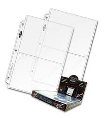 BCW 25ct Photo Archival Storage Binder Pages, 2-Pocket, 5x7-
