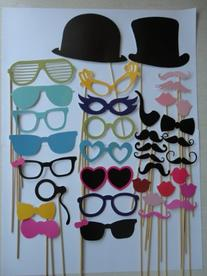 Photo Props-36pcs Glasses Mustache on a Stick for Wedding or