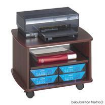 Safco Picco Duo Mahogany Printer Stand